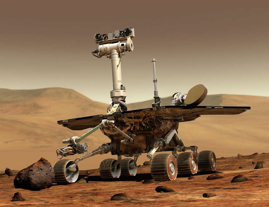 One of the two rovers used in the Mars Exploration Rover project is shown in this image released by NASA. A reader, discussing the Mars One Project to land the first humans on Mars by 2027, says we should take care of a few problems on Earth first. Photo: /AP / NASA