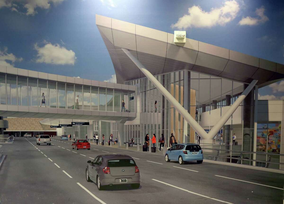A rendering of the the Houston Hobby International Terminal passenger ticket hall under construction at the Houston William P. Hobby Airport Saturday, March 7, 2015, in Houston, Texas. The international terminal will open late 2015. ( Gary Coronado / Houston Chronicle )