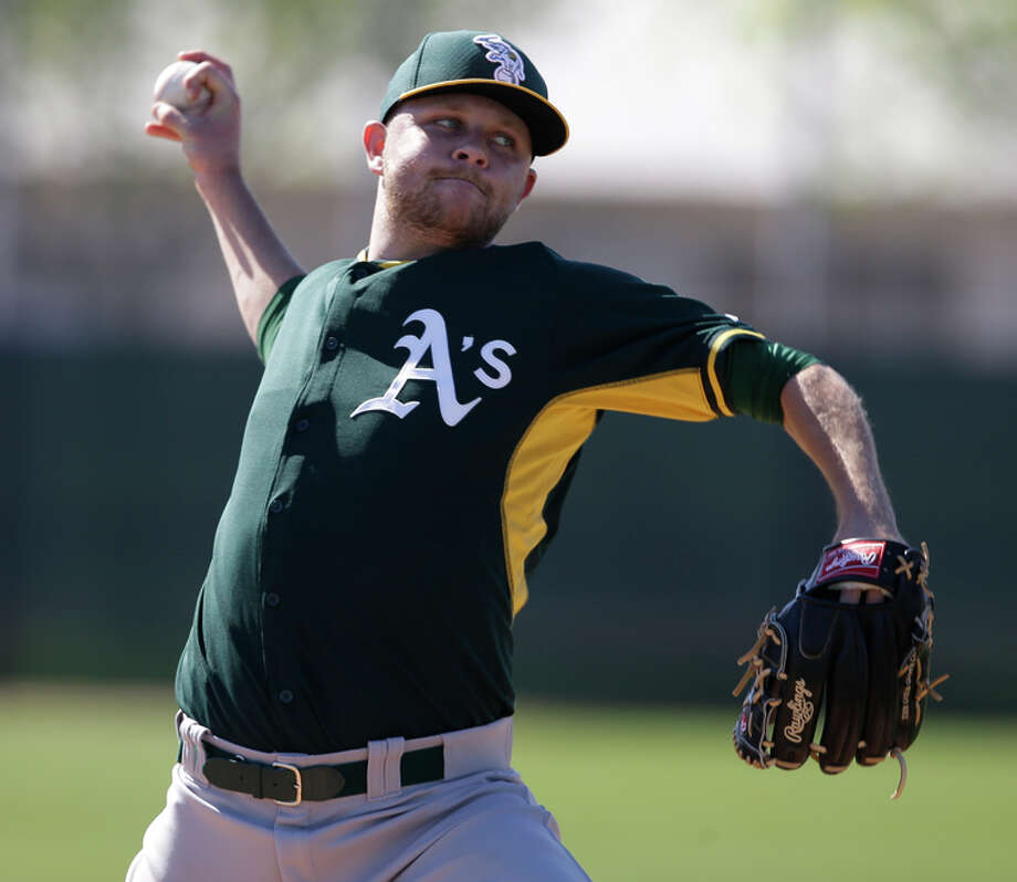 Jesse Hahn, acquired in an offseason trade with San Diego, seems to be a lock for the A's rotation. Photo: Darron Cummings / Associated Press / AP