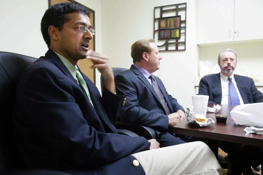 In their new practice, Dr. Ajeya Joshi (from left), Dr. John Hall and Dr. David Hirsch relieve common orthopedic conditions by using patients' stem cells, helping them with theavoid surgery. Physicians at The Stem Cell Orthopaedic Institute of Texas will use the patients' own stem cells to provide the treatments. Photo: William Luther /San Antonio Express-News / ©2015 San Antonio Express-News