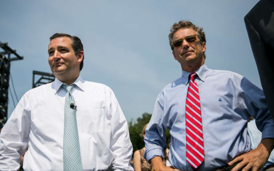 "U.S. Sen. Ted Cruz and Sen. Rand Paul at the ""Exempt America from Obamacare"" rally in 2013 in Washington, D.C."