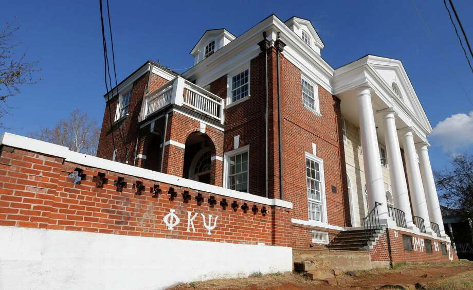 The Phi Kappa Psi fraternity house at the University of Virginia in Charlottesville is where a student said she was raped in 2012. Photo: Steve Helber /Associated Press / AP