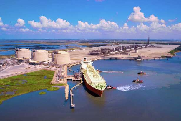 Sempra Energy, whose subsidiary Cameron LNG is building this liquefied natural gas export facility Louisiana, is proposing another export terminal in Port Arthur.. (Sempra LNG photo)