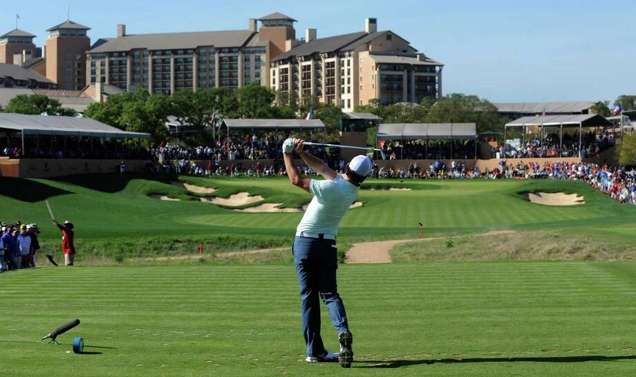 Rory McIlroy of Northern Ireland hits his tee shot on the 16th hole during the second round of the Valero Texas Open at the AT&T Oaks Course at TPC San Antonio on April 05, 2013. Photo: Steve Dykes /Getty Images / 2013 Getty Images