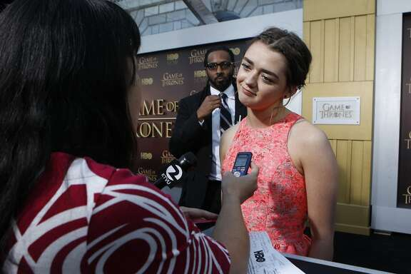 Maisie Williams, who plays Arya Stark in the Game of Thrones television series, pictured at the season 5 premiere at the War Memorial Opera House, Monday, March 23, 2015, in San Francisco, Calif.