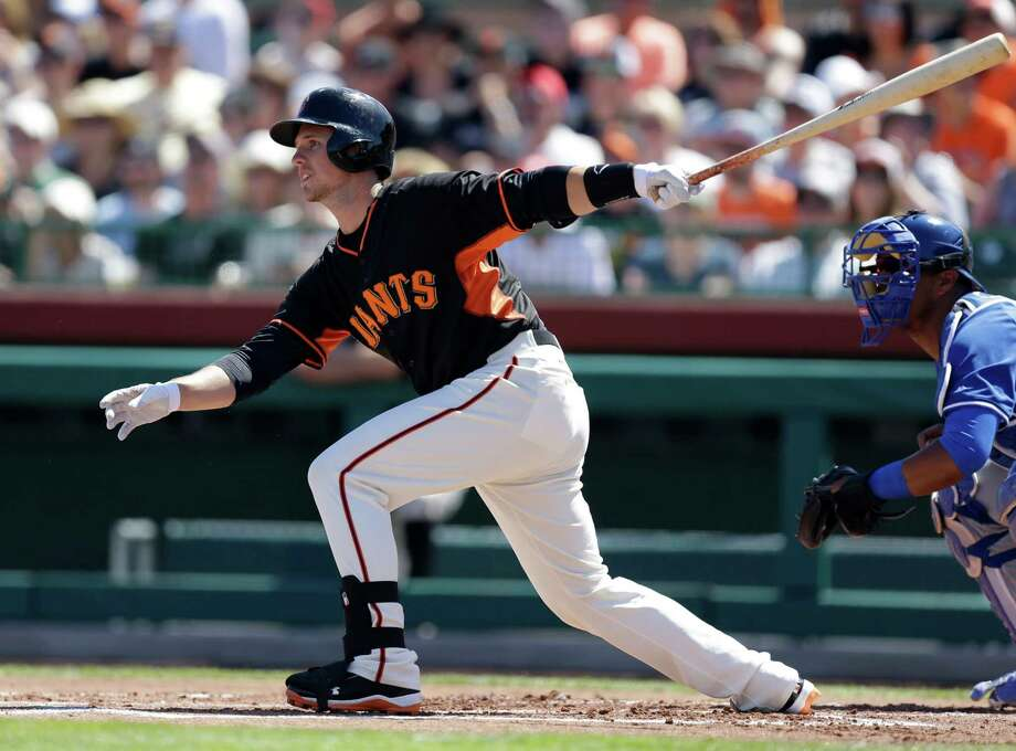 Buster Posey enters the season with 20:1 odds of being the National League's MVP. Photo: Ben Margot / Associated Press / AP