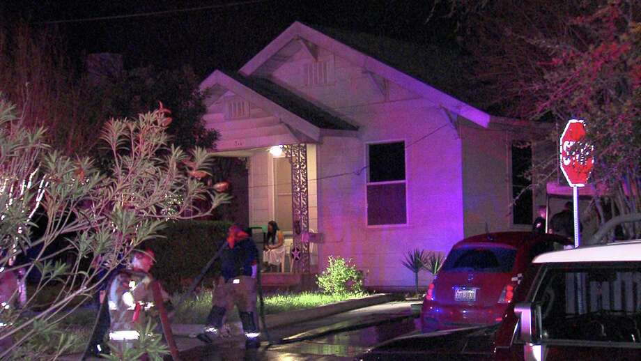 A woman was hospitalized Monday night after lighting herself on fire in an apartment north of downtown. Photo: 21 Pro Video