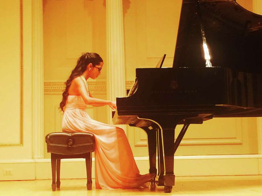 Riya Krishnan, a seventh grader from Middlesex Middle School, recently performed on stage at the Weill Recital Hall at Carnegie Hall in New York City. Photo: Contributed Photo / Darien News