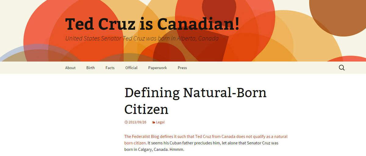 Screenshot for TedCruz.ca.