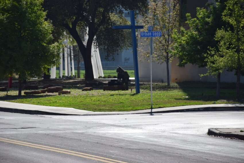 San Antonio Police Department investigates a bomb threat.