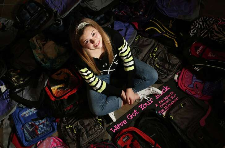 Reagan Forrest started collecting backpacks for the homeless a few years ago, and the project keeps growing. She now is collecting used backpacks at multiple schools.