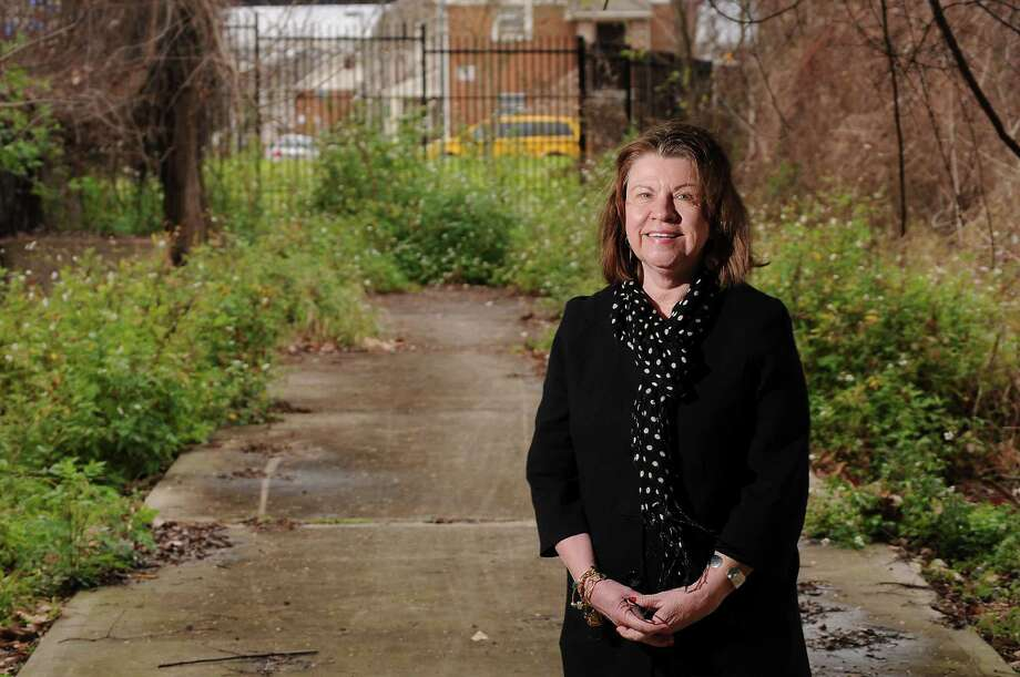 Buffalo Bayou Partnership president Anne Olson stands where the hike and bike trail ends just east of downtown. (Dave Rossman Photo) Photo: Dave Rossman, Freelance / Freelalnce