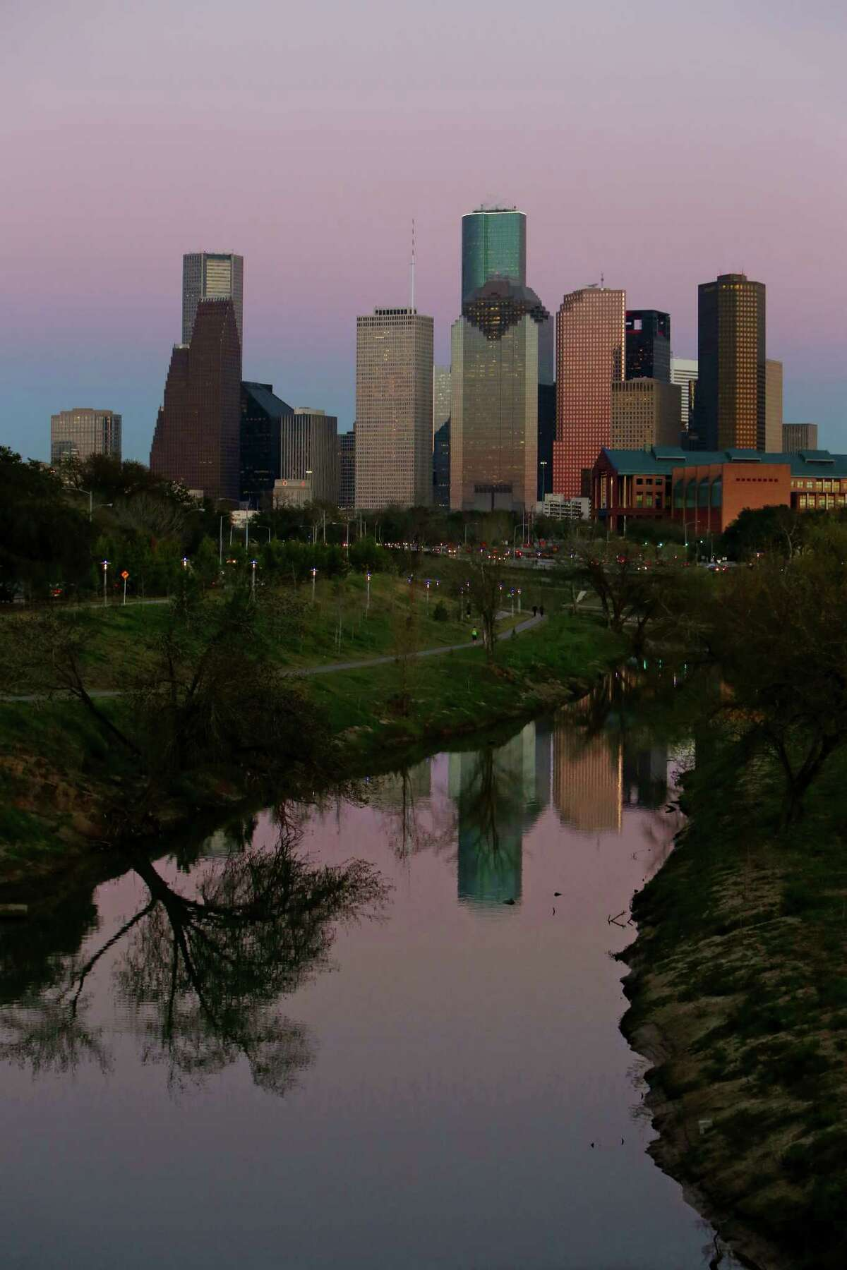 Downtown Houston and Buffalo Bayou Park Wednesday, Feb. 25, 2015, in Houston, Texas. ( Gary Coronado / Houston Chronicle )