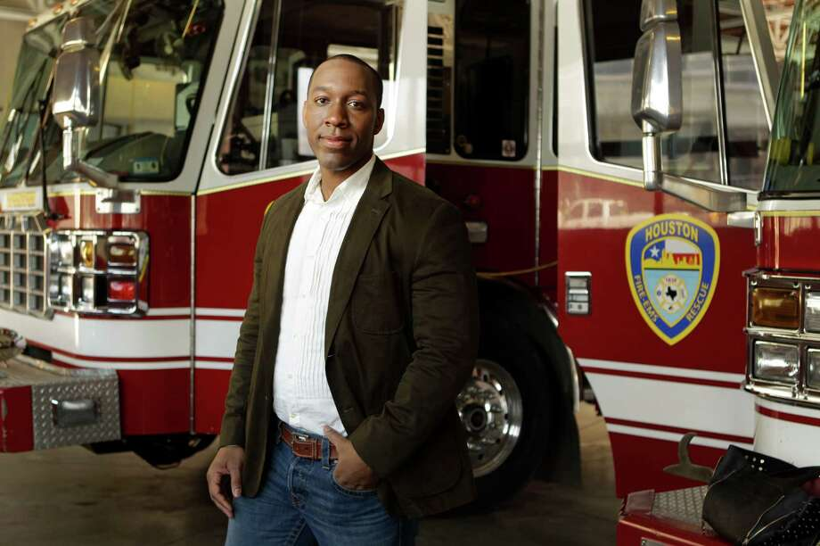 Quincy Wade started the Robert Garner Firefighter Foundation after his friend was killed in a motel fire that claimed the lives of four Houston firefighters. Photo: Melissa Phillip, Staff / © 2014  Houston Chronicle