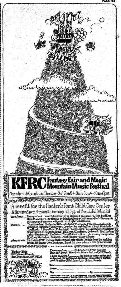 The KFRC Fantasy Fair and Mountain Music Festival was origianlly scheduled for June 3rd & 4th but was put off a weekend because of inclement weather. / ONLINE_YES