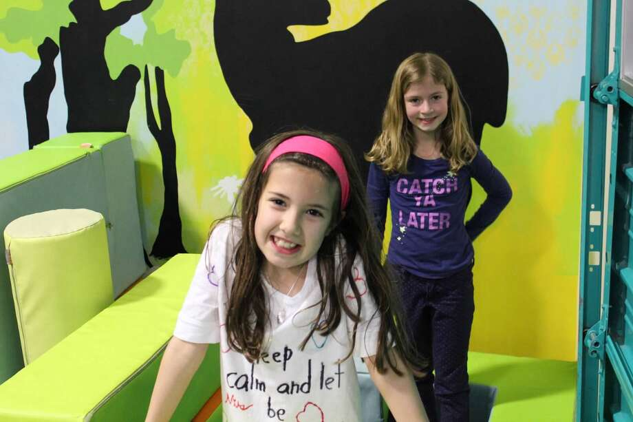 Second-graders Nina Cushman, front, and Avery Kelling, requested donations instead of birthday presents  for their eighth birthdays. Photo: Courtesy Of Kelling And Cushman