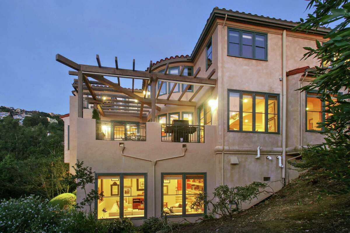 The tri-level Mediterranean has more than 4,500 square feet of living space.