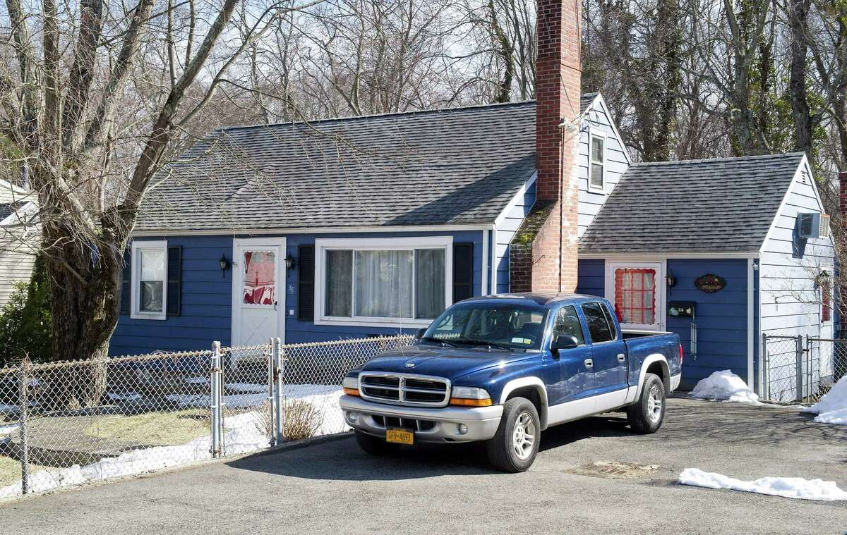 The home of Timothy Anderson, 42, at 58 Sleepy Hollow Lane in Stamford, Conn., on Tuesday, March 24, 2015. Anderson was arraigned today on charges of unlawful restraint, disorderly conduct, and two assault charges.