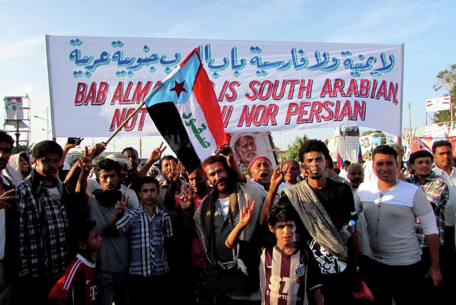 Protesters in the city of Aden demonstrate against Shiite rebels loyal to the nation's former leader. Photo: Yassir Hassan / Associated Press / AP