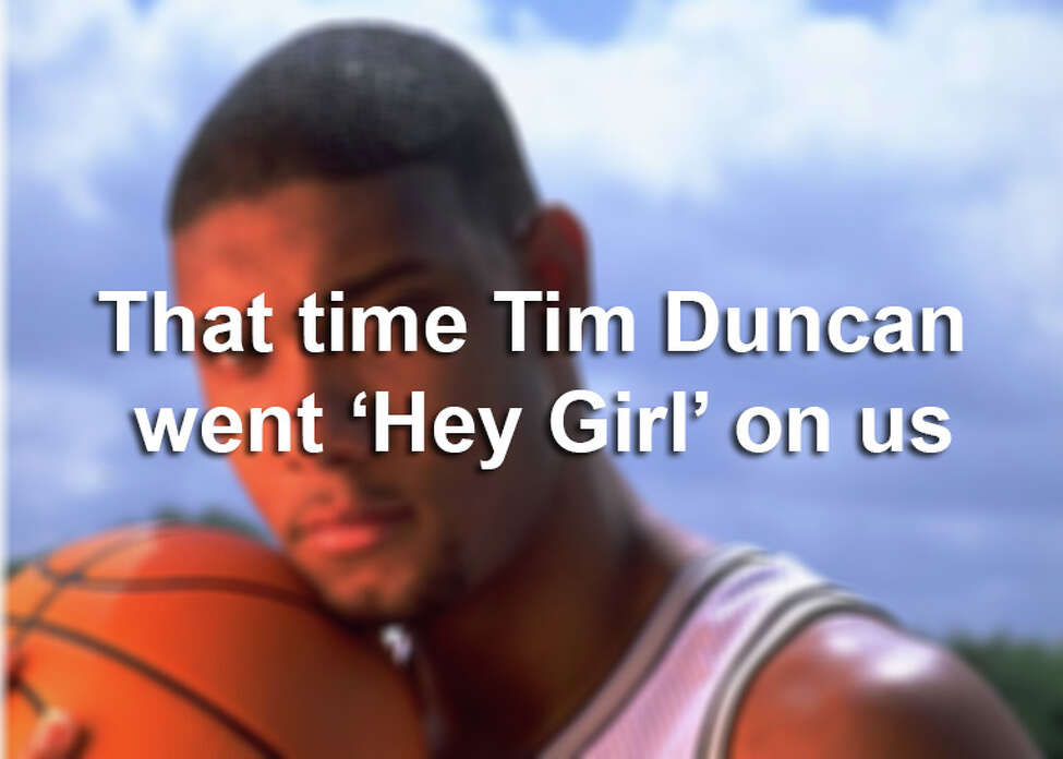 Known as a nerdy, sometimes boring, personality. Here's a long lost side of Tim Duncan.
