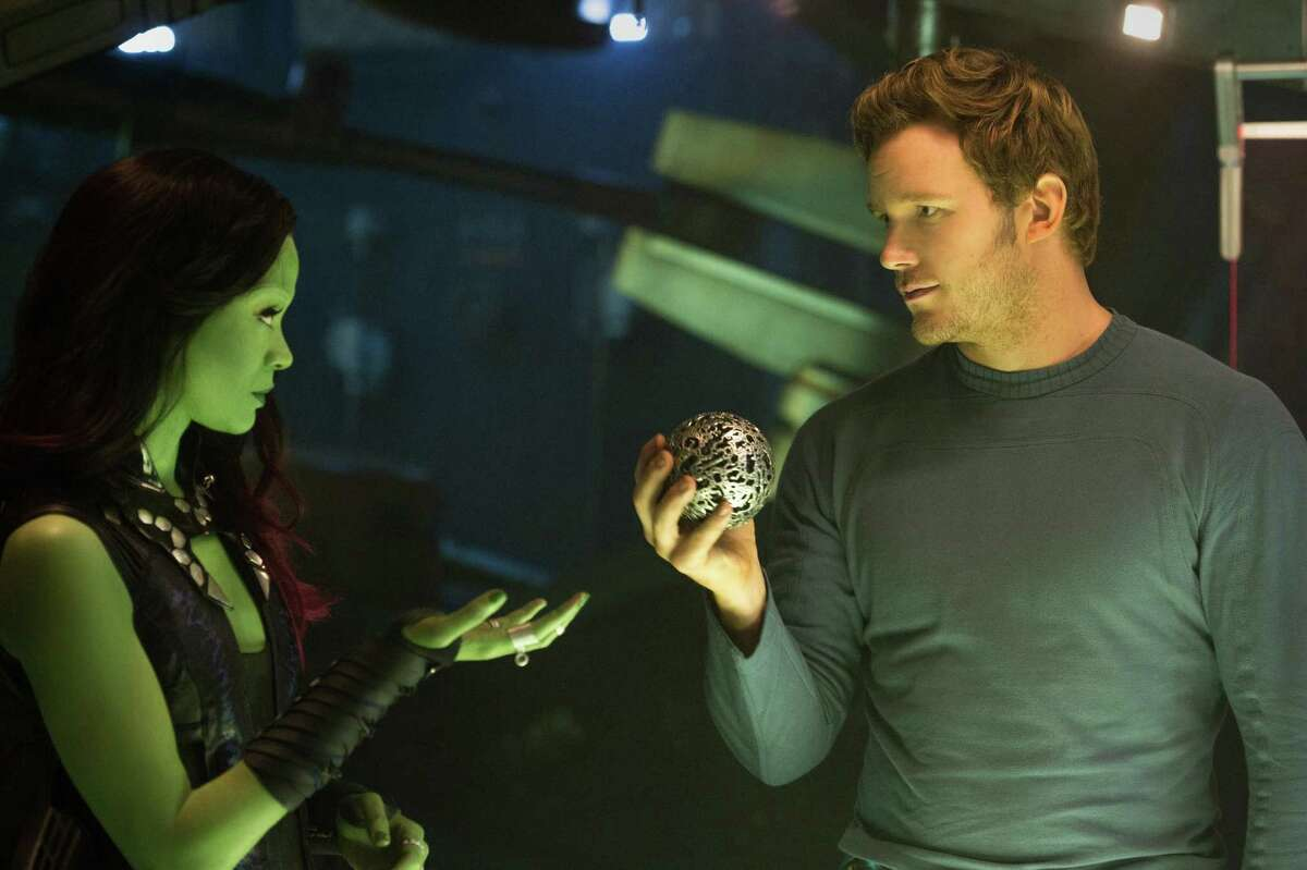 Zoe Saldana and Chris Pratt star in
