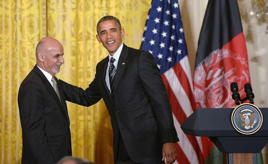 President Barack Obama and Afghan President Ashraf Ghani hold a joint press conference in the East Room of the White House on Tuesday, March 24, 2015, in Washington, D.C. (Olivier Douliery/TNS) Photo: Olivier Douliery, McClatchy-Tribune News Service