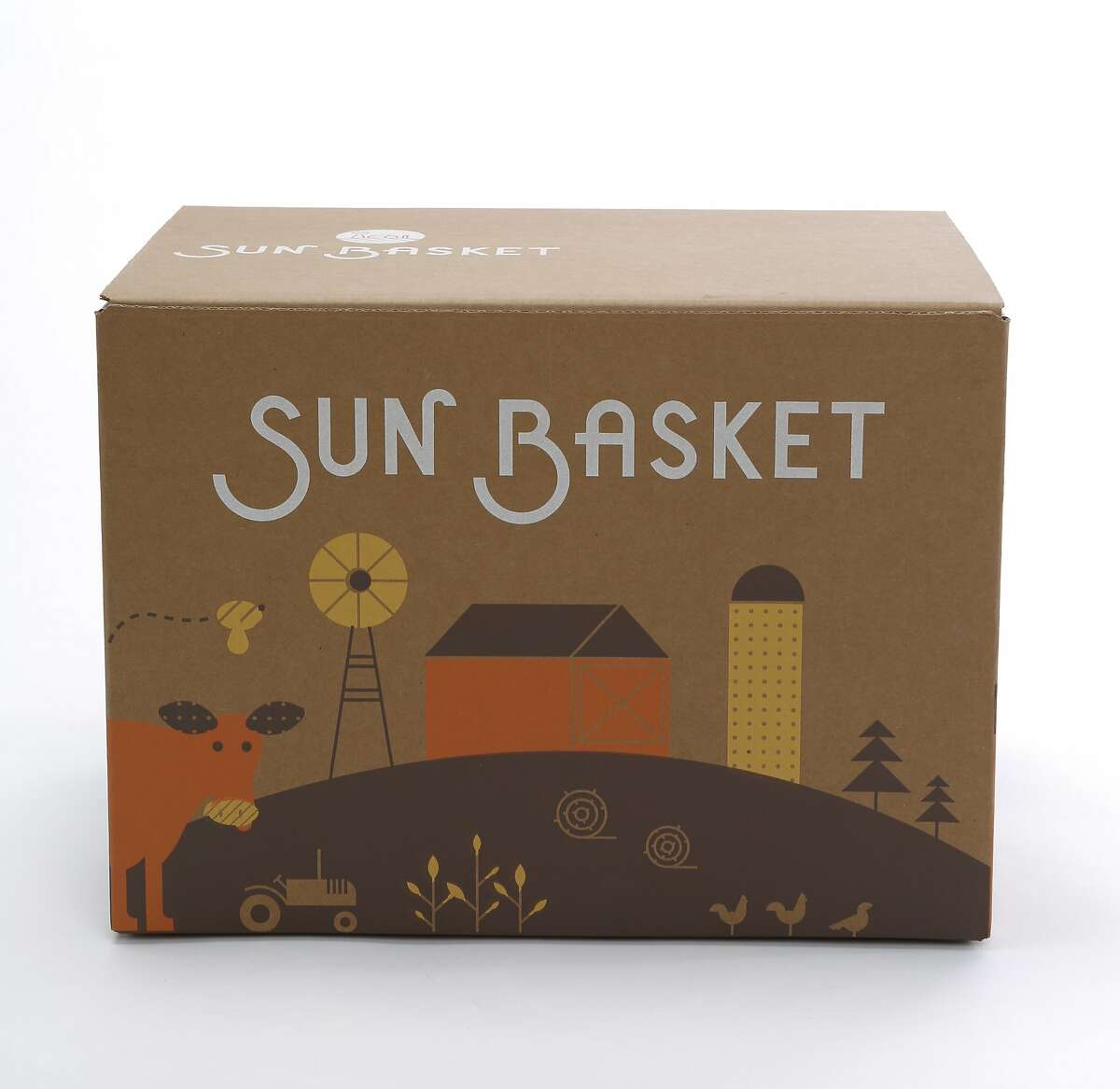 A meal kit from Sun Basket is seen on Monday, March 23, 2015 in San Francisco, Calif.