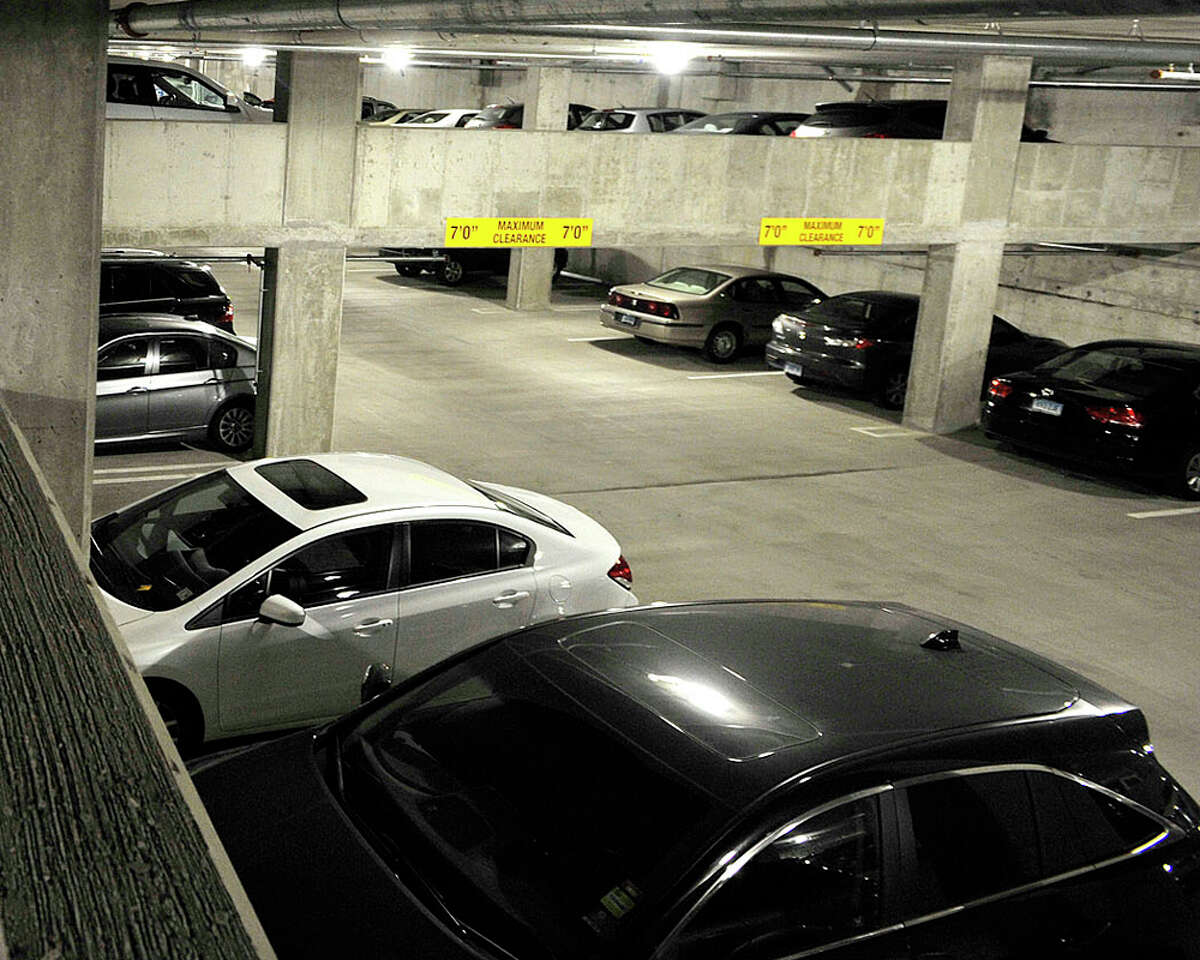 Two of the four levels are open at the new Harbor Point garage next to the train station in Stamford, Conn., on Tuesday, Nov. 25, 2014. When complete in the spring there will be over 1,700 parking spots.