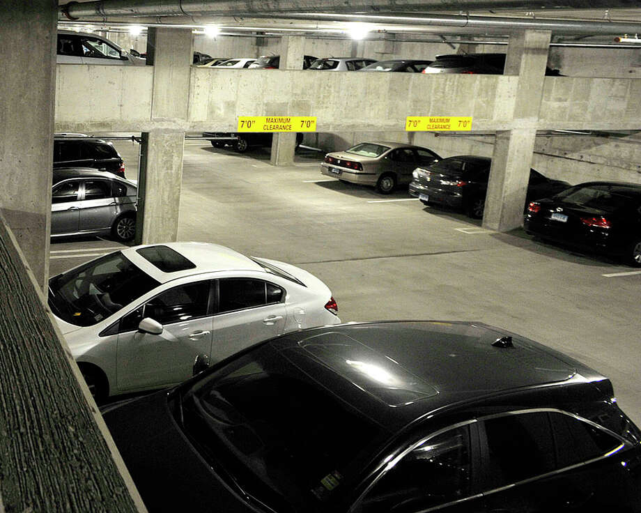 Two of the four levels are open at the new Harbor Point garage next to the train station in Stamford, Conn., on Tuesday, Nov. 25, 2014. When complete in the spring there will be over 1,700 parking spots. Photo: Jason Rearick / Stamford Advocate
