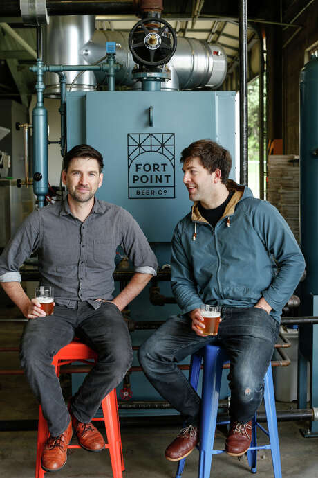 Tyler (left) and Justin Catalana at their Fort Point Brewery in the Presidio. Photo: Russell Yip / The Chronicle / ONLINE_YES