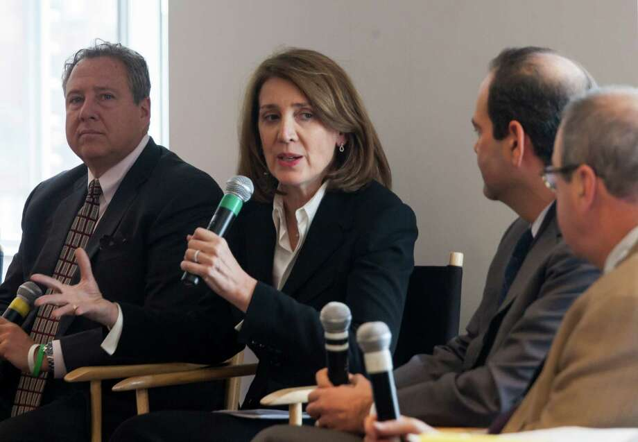 Ruth Porat, Morgan Stanley's chief financial officer, is shown at a 2013 Dealbook conference. Porat is leaving the firm to take the same post at Google, becoming one of the most powerful women in Silicon Valley, another industry that has been criticized for its lack of gender balance. Photo: New York Times File Photo / NYTNS