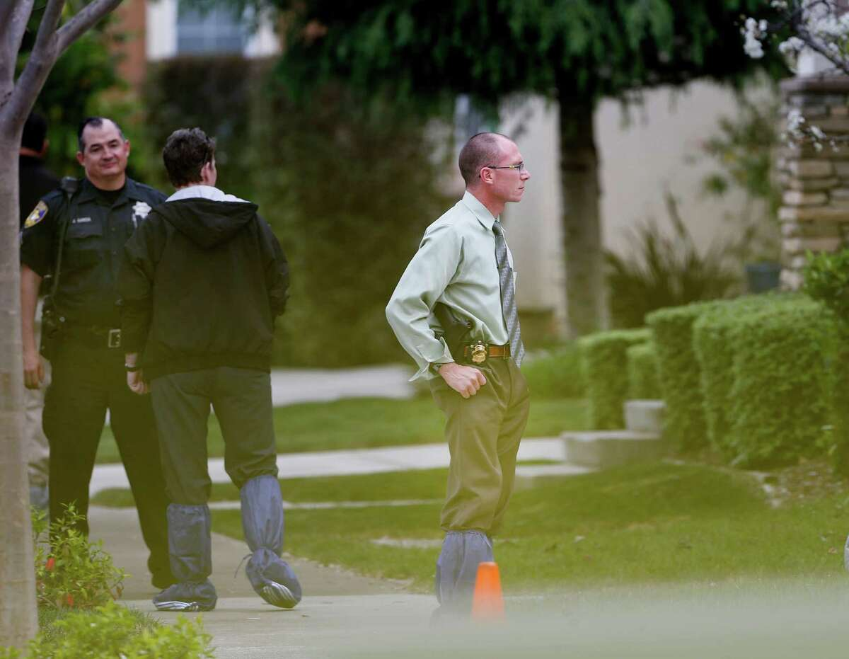 Investigators peered into the home on Kirkland Avenue where the kidnapping apparently occurred Tuesday March 24, 2015. The Vallejo, Calif. police department says Denise Huskins, a Kaiser physical therapist, was the apparent victim of a kidnapping for ransom.