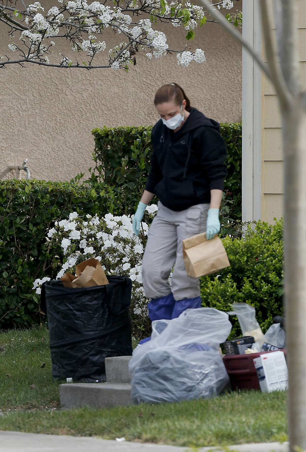 Some items were left on the front lawn of the home on Kirkland Avenue where investigators worked on Mare Island Tuesday March 24, 2015. The Vallejo, Calif. police department says Denise Huskins, a Kaiser physical therapist, is the apparent victim of a kidnapping for ransom.