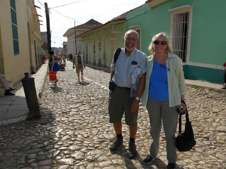 Karen and Nick Ashiku of San Carlos in Trinidad, Cuba.