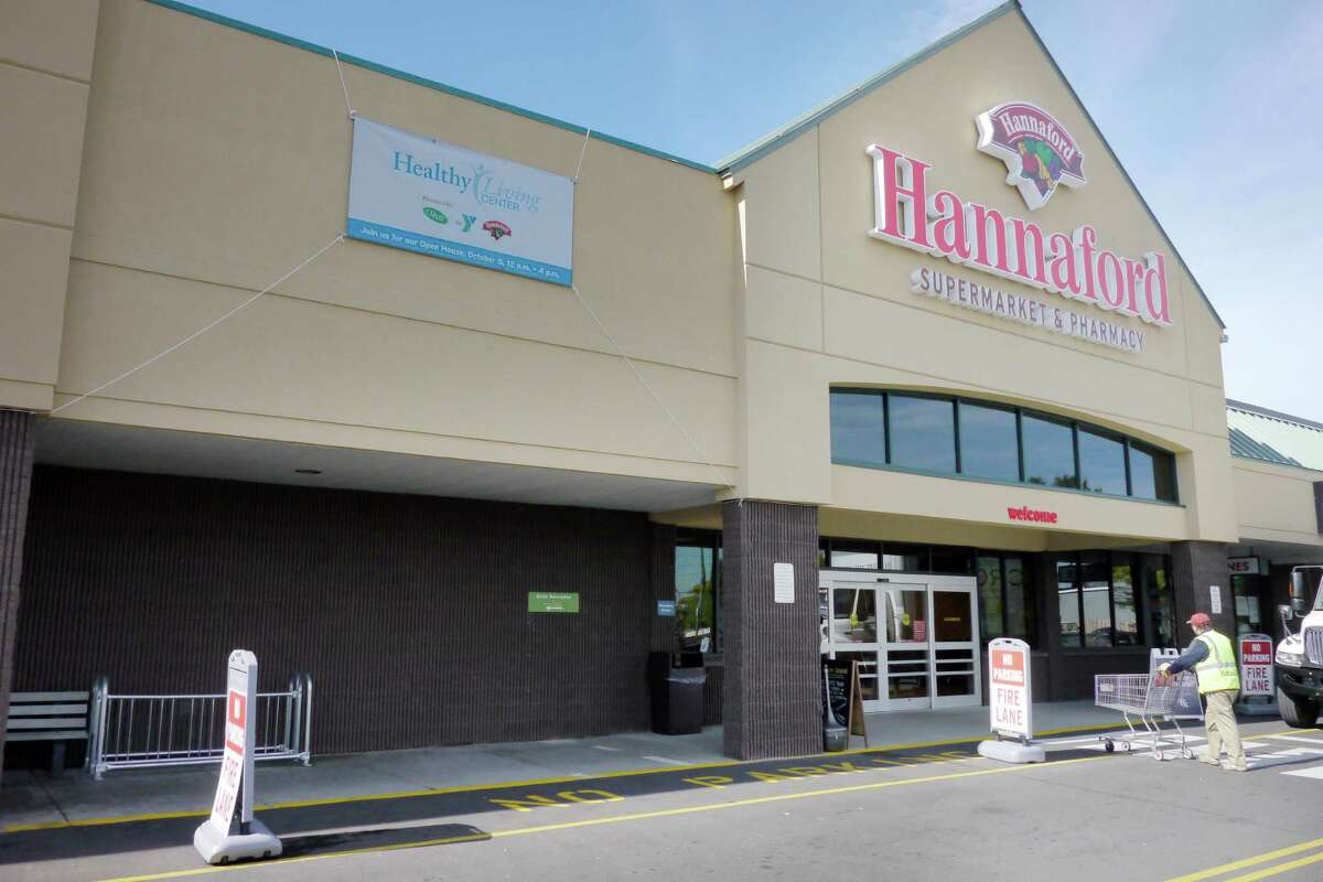 A view of the Hannaford supermarket on Central Ave. on Thursday, Oct. 3, 2013, in Albany, N.Y. (Paul Buckowski / Times Union)