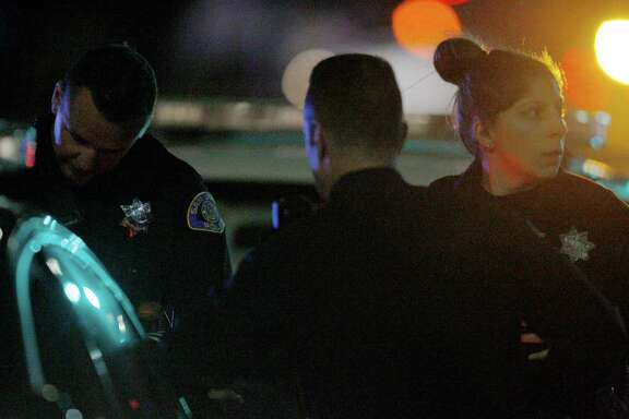 The scene where reports say a San Jose police officer was fatally shot near the intersection of Senter and Umbarger roads, Tuesday, March 24, 2015, in San Jose, Calif.