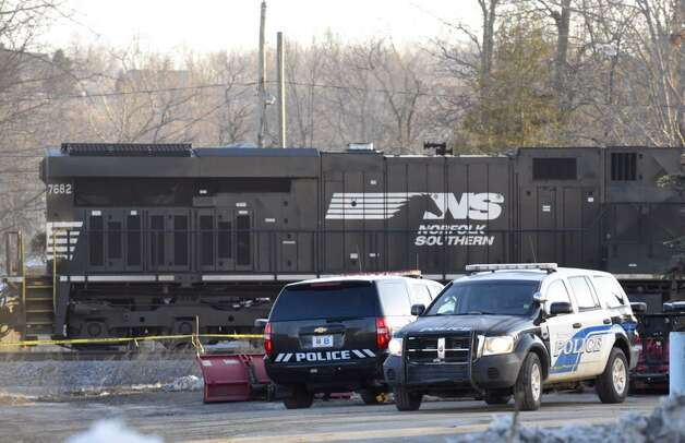 Railroad police and the Mechanicville Police Department are investigating a fatality on the tracks near Sheehan Street in Mechanicville, N.Y., on Wednesday, March 25, 2015. (Skip Dickstein/Times Union)