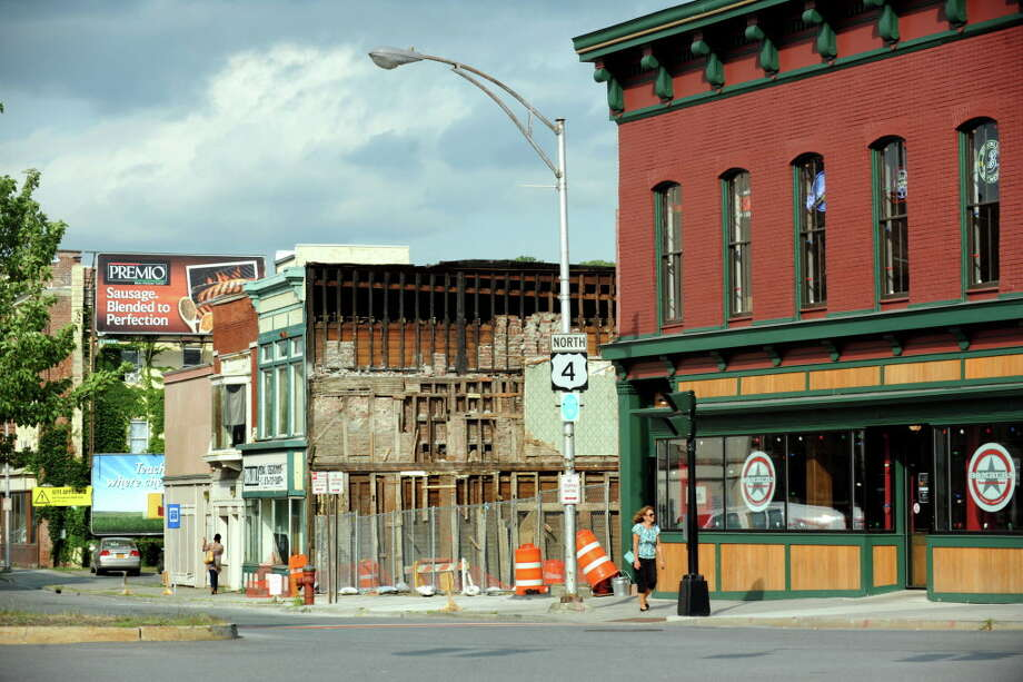 King Street, where buildings were demolished on Thursday, Aug. 8, 2013, in Troy, N.Y. (Cindy Schultz / Times Union archive) Photo: Cindy Schultz / 00023469A