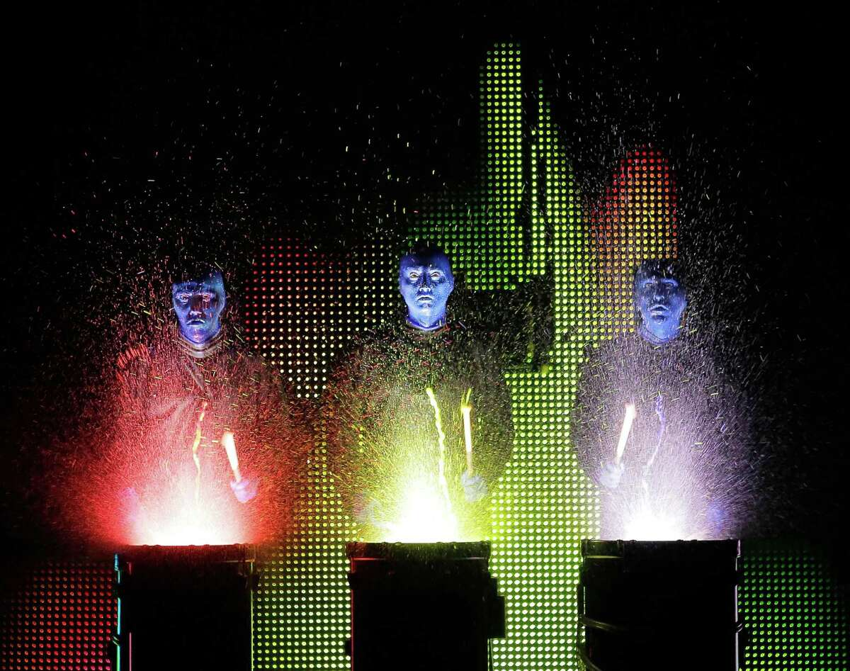 Here's something new for the Majestic Theatre's Broadway series -- Blue Man Group! The three bald, blue guys put on a show that's a mix of comedy, music and technology. And percussionist and music director Jesse Nolan sees it all from his catbird's seat -- high over the stage. 8 p.m. today, 2 and 8 p.m. Saturday, 2 and 7:30 p.m. Sunday, Majestic Theatre, 224 E, Houston St. $40-$95 box office, $53.35-$110.95 Ticketmaster.-- Robert Johnson