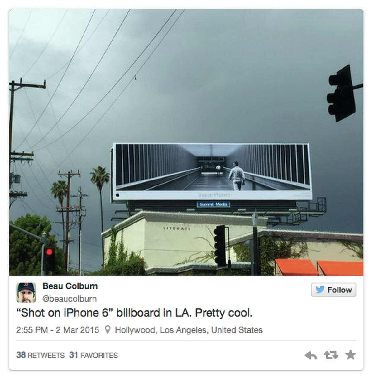 Photo billboards showing the iPhone6 campaign photographs.