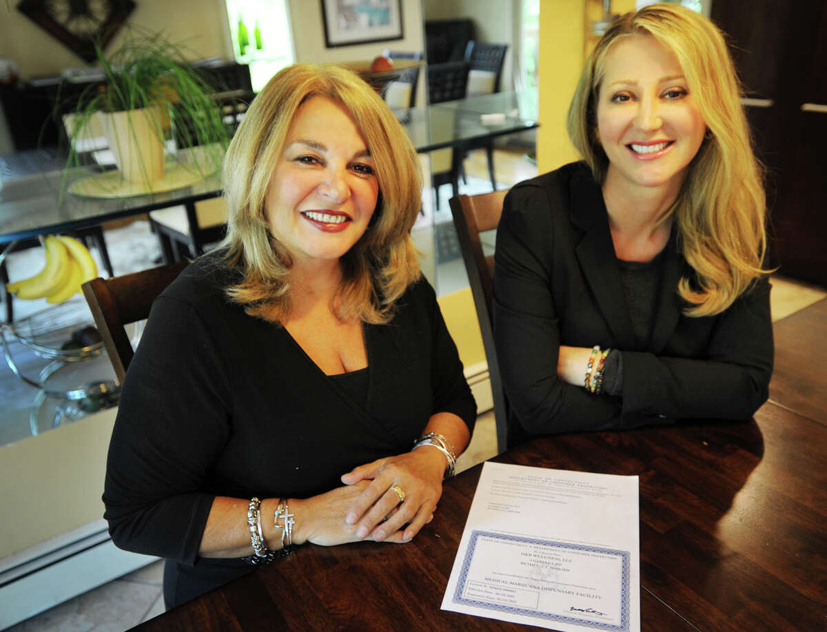 Angela D'Amico, left, and Karen Barski, both of Trumbull, manage Bethel's Compassionate Care Center of Connecticut on Garella Road.