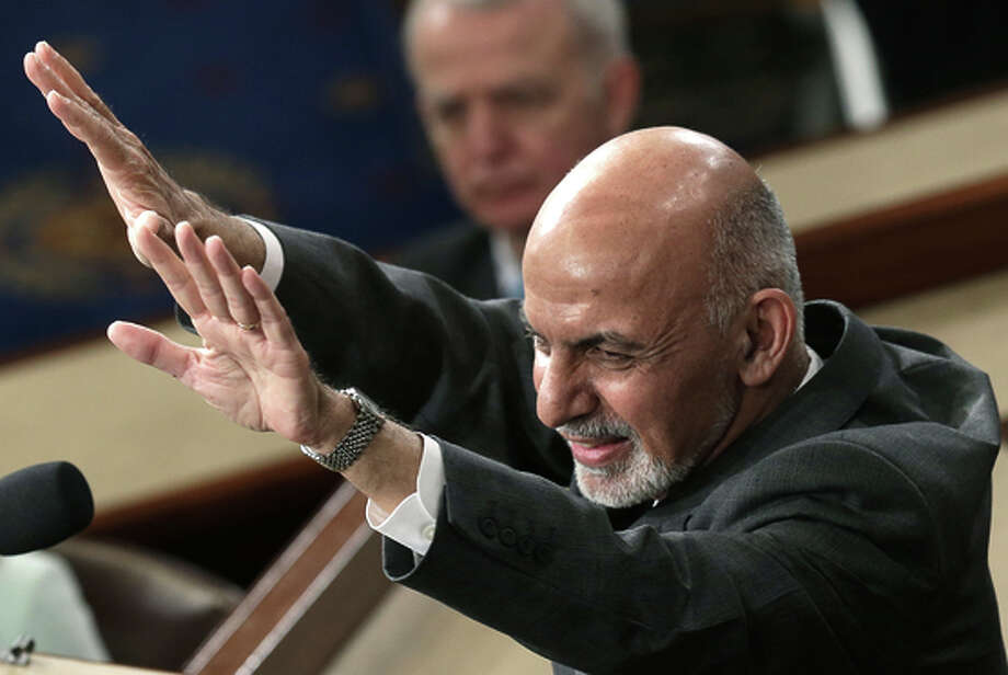 President Ashraf Ghani received a warm reception in Washington. Photo: Win McNamee / Getty Images / 2015 Getty Images