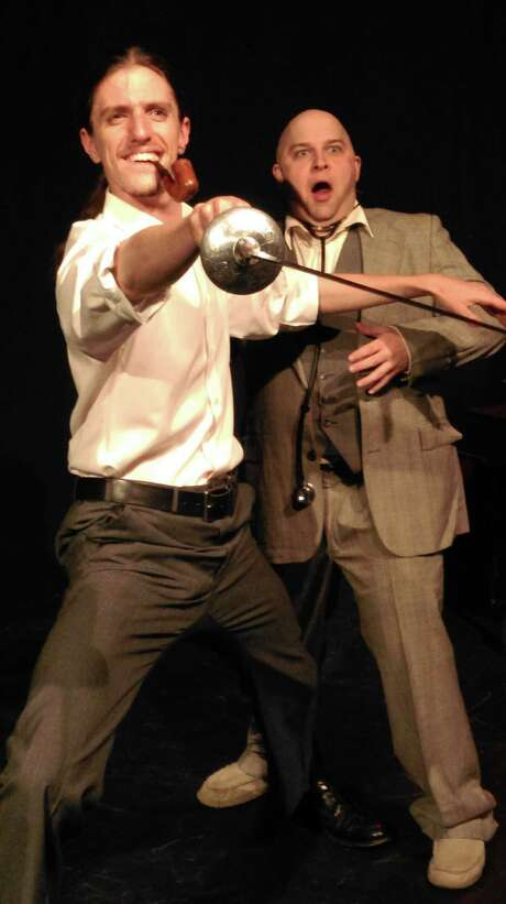 "Joseph Travis Urick and Benjamin Scharff star in ""You've Ruined a Perfectly Good Mystery"" at the Rose Theatre Company. Photo: Courtesy Erin Polewski / Courtesy Erin Polewski"