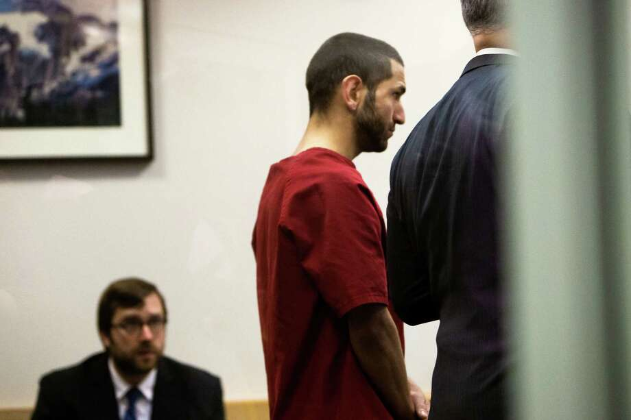 Attilla Richards, the man accused of killing Biftu Dadi on March 9, appears for his arraignment Wednesday, March 25, 2015, at the King County Courthouse in Seattle. Prosecutors say 29-year-old Attila Richards repeatedly stabbed Dadi, 24, and then drove her body to a state mental hospital. Richards pleaded not guilty to the second-degree murder charge filed against him. Photo: JORDAN STEAD, SEATTLEPI.COM / SEATTLEPI.COM