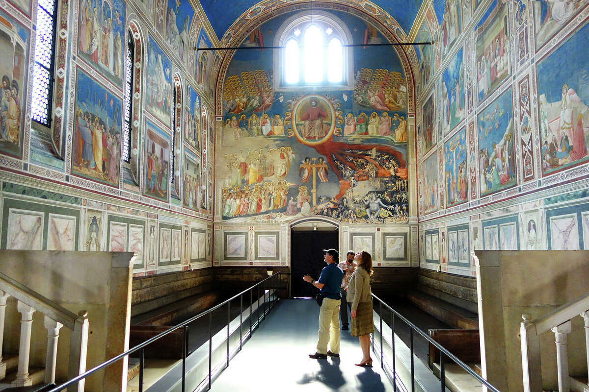 You'll get more time to study the exquisite detail of Giotto's frescoes in Padua's Scrovegni Chapel if you visit after 7 p.m. and pay an additional 4 euros.