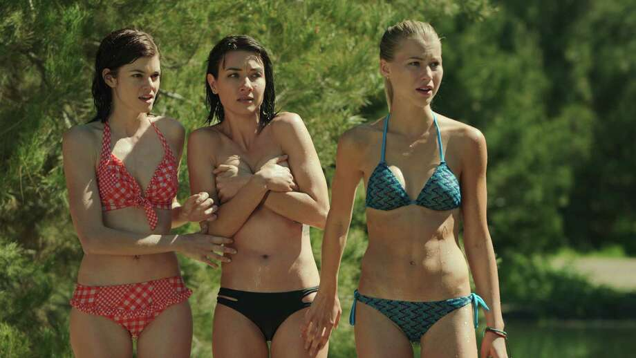 """Three young women in a cabin in the woods. What could go wrong? A clue: The movie is called """"Zombeavers."""" Photo: Freestyle Releasing / San Antonio Express-News"""
