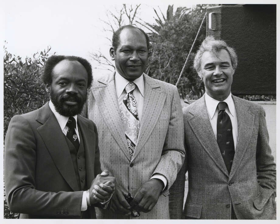 George Moscone(right) with Willie Brown (left) and the late Tom Bradley, longtime Los Angeles mayor. Photo: Randall Gee / ONLINE_CHECK