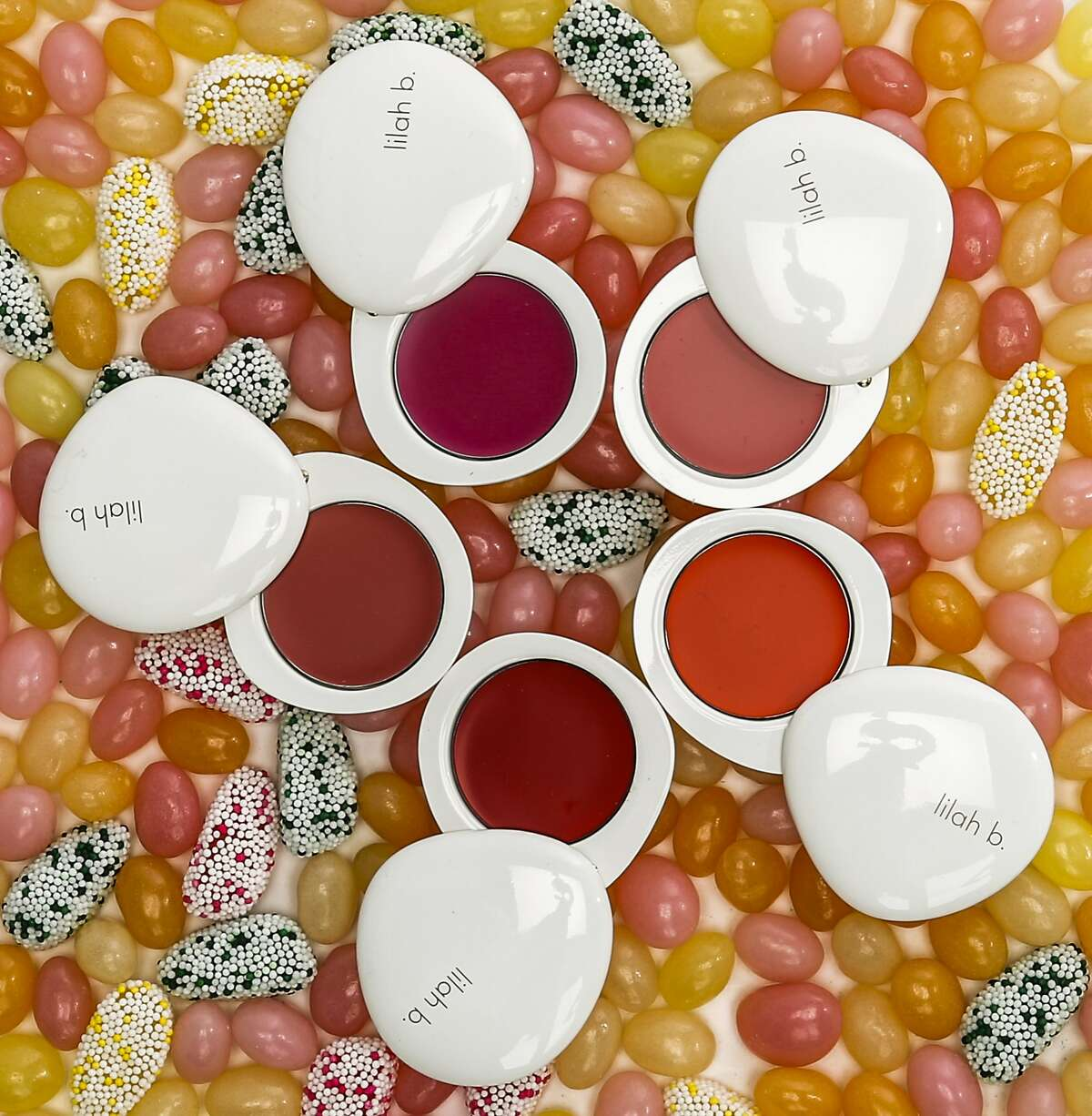 Lilah b.'s lip and skin products are seen on Wednesday, March 25, 2015 in San Francisco, Calif.