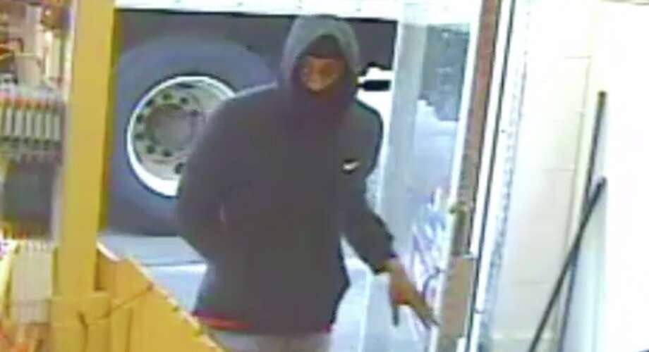 Homicide suspect caught on video.