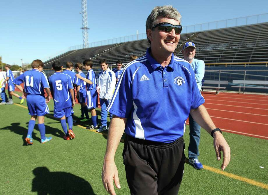 Alamo Heights High School Boy's Varsity Soccer Coach Bruce Fink will retire after 32 years of athletics and teaching at the school. Photo: Kin Man Hui /San Antonio Express-News / ©2013 San Antonio Express-News